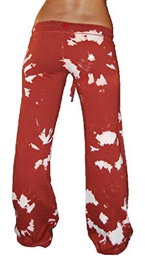 Twisted Heart Tie Dye Kenzie Drawstring Sweat Pants (Small, Redhead) (Heart Twisted Sweatpants)