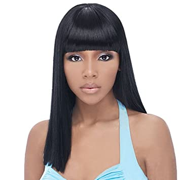 Amazon.com : Synthetic Hair Half Wig OUTRE Quick Weave Cap Brie ...