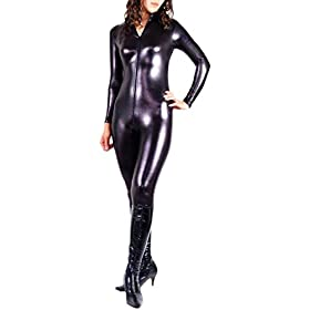 - 41foNR7b1zL - VSVO Shiny Zentai Metallic Unitard Catsuit Dancewear