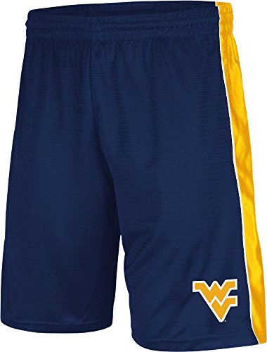 Colosseum West Virginia Mountaineers Blue 10 Inch Inseam Layup Synthetic College Shorts (XL=36-37)