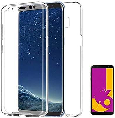 PLANETMOVIL [[ Compatible con Samsung Galaxy J4 Plus + (2018) 6 Pulgadas]] Carcasa Funda 360º de Doble Cara 100% Transparente Completa con Trasera rígida: Amazon.es: Electrónica