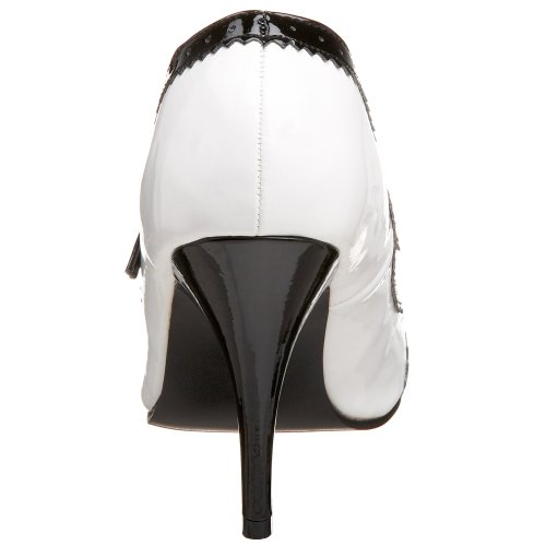 Vanity Pleaser Bianco Tacco wht Pat 442 Donna Blk Scarpe col HFdrFqUw