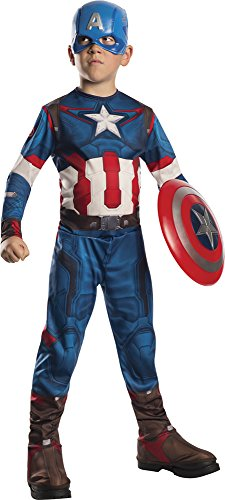 Captain+America Products : Rubie's Costume Avengers 2 Age of Ultron Child's Captain America Costume, Small