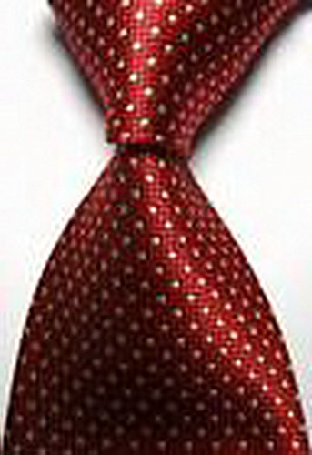 [Dream Pole New Classic Checks Red Beige JACQUARD WOVEN 100% Silk Men's Tie Necktie cdc0174] (Cats Musical Halloween Costumes)