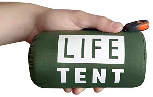 Go Time Gear Life Tent Emergency Survival Shelter – 2 Person Emergency Tent – Use As Survival Tent, Emergency Shelter, Tube Tent, Survival Tarp - Includes Survival Whistle & Paracord 8