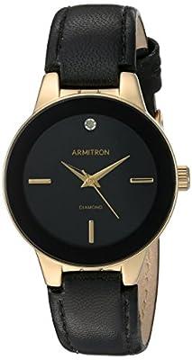 Armitron Women's 75/5410 Diamond-Accented Leather Strap Watch by Armitron