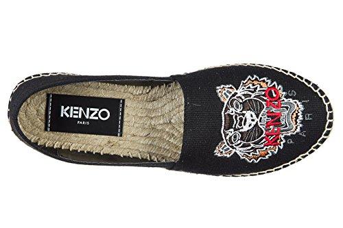 Scarpe Da Calcio Espadrillas In Cotone Kenzo Nero
