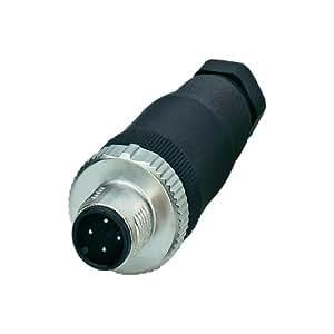 Phoenix 1513334 M12 Negro, Acero inoxidable - Conector (40 - 85 °C, Negro, Acero inoxidable, IP67)