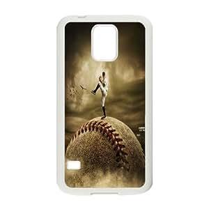 kimcase Custom fire baseball Case for Samsung Galaxy S5 I9600