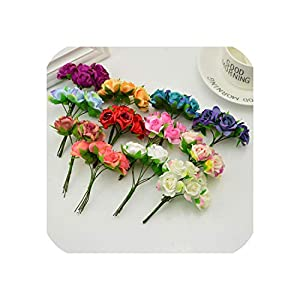 April With You 18pcs Silk Roses Wedding Shoes Headdress DIY Wreath Gift Box Home Wall Decoration Artificial Flower Collage Garland Bridal 35