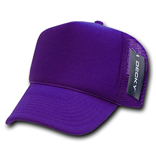 solid trucker cap purple