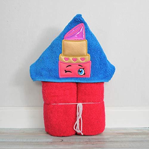 Pink Lipstick Hooded Bath Towel - Baby, Child, Tween