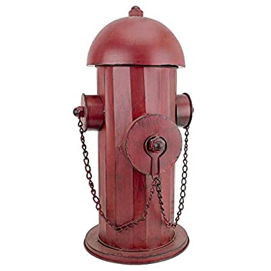 Design Toscano FU68858 Fire Hydrant Statue Puppy Pee Post and Pet Storage Container, Medium, Full Color