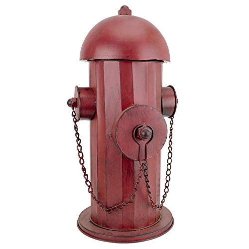 Design Toscano FU68858 Fire Hydrant Statue Puppy Pee Post and Pet Storage Container, Medium, Full Color (Statues Sale Large Indoor For)