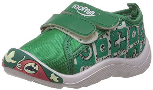 Foot Fun (from Liberty) Unisex Cozy-02 Green Canvas Sneakers - 13 kids...