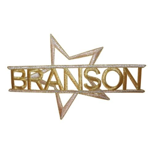 Logo patch embroidered)ID 1898 Branson Missouri Patch Emblem MO Travel Embroidered Iron On Applique+ E-book with - Branson Mo In Stores