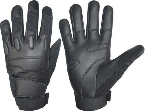Portier Kevlar Gants en cuir noir (L)