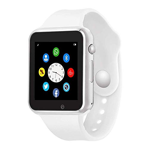 Aeifond Smart Watch Bluetooth Smartwatch Touchscreen Smart Wrist Watch Fitness Tracker with Camera Pedometer SIM SD Card Slot Compatible iPhone iOS Samsung Android for Men Women Kids (White)