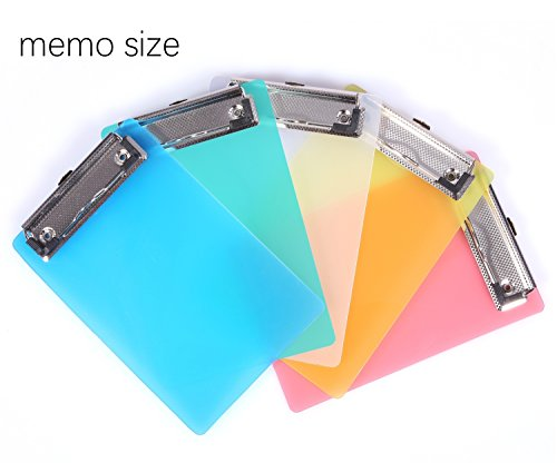 Mini Clipboard, Mymazn Small Clipboard 5x7 Inch Pretty Cute Clipboard Memo Size Pocket Clipboard Tiny A6 Clip Boards Plastic (5 Pack) (Clipboard Mini)