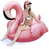 Lavievert Giant Flamingo Inflatable Pool Float Toy Summer Beach Outdoor Swimming Party Lounge Floaty Raft for Adults & Kids - Bonus Drink Holder