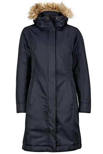 Marmot Down Coats - Marmot Chelsea Women's Waterproof Down Rain Coat, Fill Power 700, Jet Black, Medium