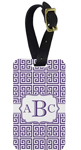 Greek Key Aluminum Luggage Tag (Personalized) ()