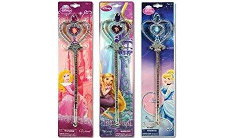 Disney Princess Wand x 3 (1 Cinderalla , 1 Pink Princess and 1 Purple - Tangled Wand) (Cinderalla Dress)