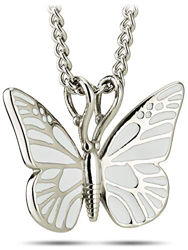 Women's Stainless Steel White Butterfly Necklace – 2 Corinthians 5:17