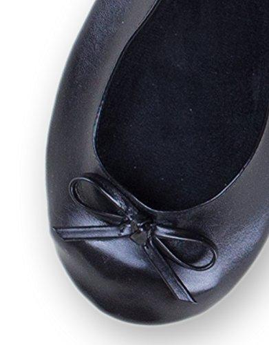 Ballerina2Go , Ballerines pour femme Noir - Noir