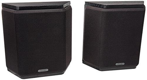 Par de Caixa Acústica Surround para Home Theater, Monitor Audio, SBRSXB, Preto Fosco