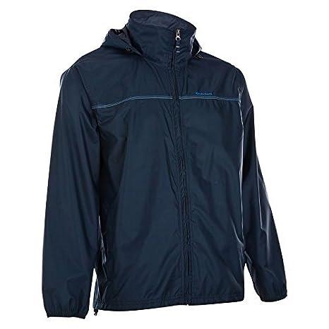 Quechua raincut chaqueta con cremallera (azul marino) talla ...