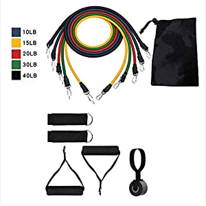 WODETIAN Ith BonuResistance Loop Exercise Bands Fitness Set WS Jump Rope 2 Gliding Disks Core Sliders 5 Exercise Resistance Bands E-Book Included accessoires de fitness [tag]