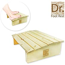"""Ergonomic Wooden Under Desk Foot Rest for Office Home 17.7"""" Width Portable Pinewood Footstool to Relieve Tendon Pains and Improve Blood Circulation"""