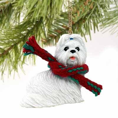Tzu White Ornaments Shih (Shih Tzu Miniature Dog Ornament - White)