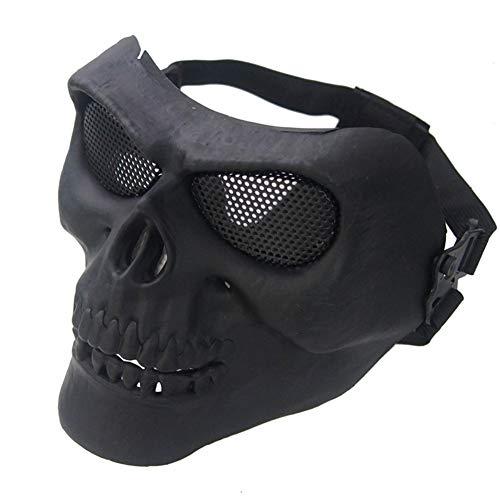 WEIZHUANGZHE Cool Skull Multi CS Face Mask Ski Bike Motorcycle Outdoor Sports Wear 2019 Shield mask,Black