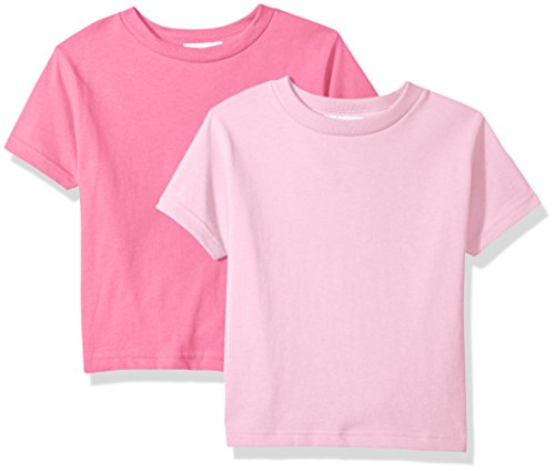 Monsters Inc Outfit (Clementine Unisex Baby Boy Everyday Short Sleeve Toddler T-Shirts Crew 2-Pack, Pink/Hot Pink,)
