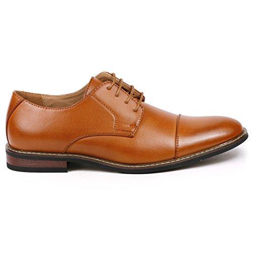 Image of Metrocharm Alex-04 Men's Lace up Cap Toe Oxford Dress Shoes