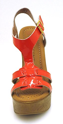 soft High butter SS02 heeled shoes Heel 190 sandals Innocent High sandals Orange Leather Leather Fg5zwqaH