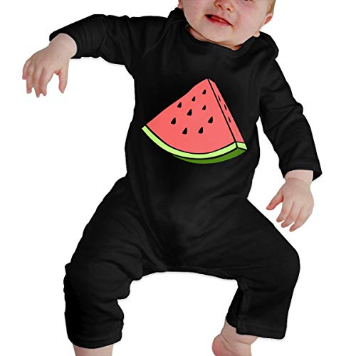 KAYERDELLE Watermelon Long-Sleeve Unisex Baby Jumpsuits for 6-24 Months Toddler Black -