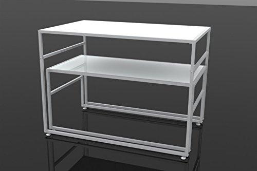 FixtureDisplays Nesting Display Tables, Rectangular, Set of 2 (S/L) - White 119995!