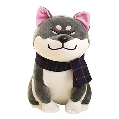 Fdrirect 1pcs 281819cm Dog Dolls Shiba Inu Short Plush Akita Toy plush toy Gray - Akita Inu Dog