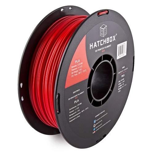 B00J0GO8I0 HATCHBOX PLA 3D Printer Filament, Dimensional Accuracy +/- 0.03 mm, 1 kg Spool, 1.75 mm, Red 41foW2BrULtL