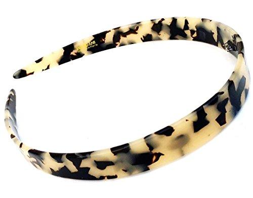 - Wardani, 1.5 Cm French Headband acetate celluloid Handmade in France (White Tokyo)