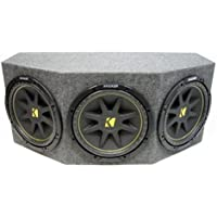 ASC Package Triple 10 Kicker Sub Box Sealed Rearfire Subwoofer Enclosure C10 Comp 900 Watts Peak