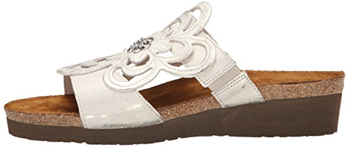 silver Sandy Sandals Naot Womens Plateado Leather w8qxz0a