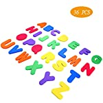 Swovo Bath Foam Letters and Numbers Bath Toys Baby Bathtub Organizer Bathroom Toy 36 PCS for Kids,Children,Toddler