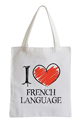 I love French Language Fun Jutebeutel