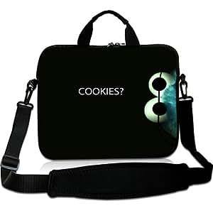 Brinchs Handmadecraft Cute Cartoon 12 12.5 Inch Laptop Shoulder Bag with Cookie Monster Waterproof Canvas Fabric Laptop / Notebook / MacBook / Ultrabook Computers(Twin Sides)