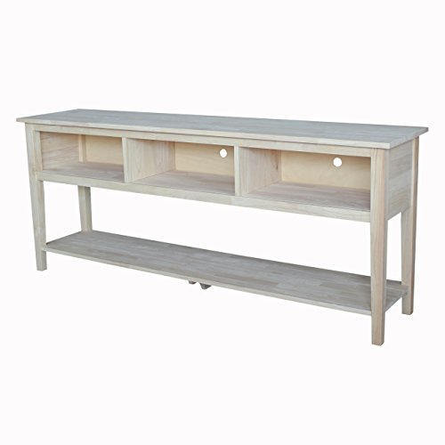 International Concepts Unfinished Entertainment/TV Stand, 72-Inch, Unfinished