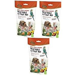 (3 Pack) Zilla Reptile Food Munchies Vegetable & Fruit Mix, 4 Ounces each